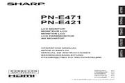 SHARP夏普 PN-E421型液晶显示器 说明书