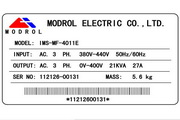 蒙德(MODROL)IMS-MF-43P7变频器说明书
