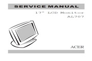 ACER AL707 17寸 LCD Monitor显示器 英文说明书