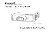 EIKI爱其 EIP-HDT20投影机 英文说明书