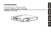 东芝 TDP-FF1AU投影机 使用说明书