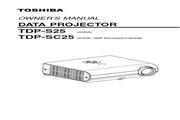 东芝 TDP-SC25投影机 英文使用说明书