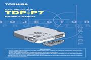 东芝 TDP-P7投影机 英文使用说明书