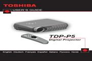 东芝 TDP-P5投影机 英文使用说明书