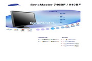 三星 740BF液晶显示器 使用说明书