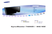 三星 740NW液晶显示器 使用说明书