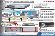 SANYO PLC-WL2503超短投影机 说明书