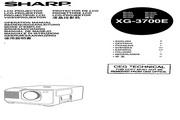 夏普 XG-3700E投影机 英文使用说明书
