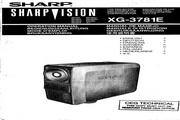夏普 XG-3781E投影机 英文使用说明书