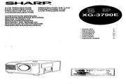 夏普 XG-3790E投影机 英文使用说明书
