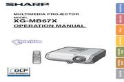 夏普 XG-MB67X投影机 英文使用说明书