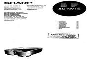 夏普 XG-NV1E投影机 英文使用说明书
