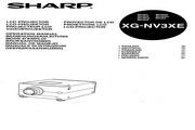 夏普 XG-NV3XE投影机 英文使用说明书