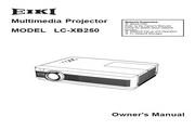 爱其 LC-XB250投影机 英文使用说明书