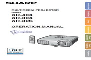 夏普SHARP XR-40X投影机 英文使用说明书
