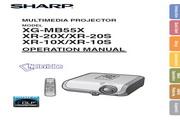 夏普SHARP XG-MB55X投影机 英文使用说明书