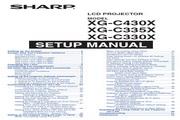 夏普SHARP XG-C335X投影机 英文使用说明书