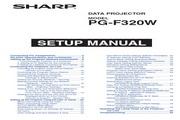 夏普SHARP PG-F320W投影机 英文使用说明书