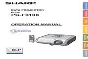 夏普SHARP PG-F310X投影机 英文使用说明书