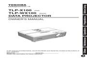 东芝 TLP-WX100投影机 英文使用说明书