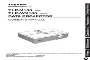 东芝 TLP-X100投影机 英文使用说明书