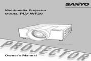 三洋 PLV-WF20投影机 英文使用说明书
