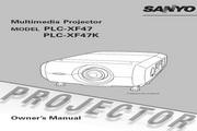 三洋 PLC-XF47投影机 英文使用说明书