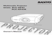 三洋 PLC-XF47K投影机 英文使用说明书