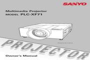 三洋 PLC-XF71投影机 英文使用说明书