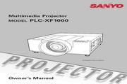 三洋 PLC-XF1000投影机 英文使用说明书