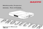 三洋 PLC-XTC50L投影机 英文使用说明书