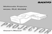 三洋 PLC-XL50A投影机 英文使用说明书
