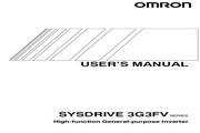 欧姆龙(OMRON) 3G3FV-A4007变频器 说明书