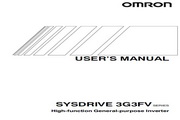 欧姆龙(OMRON) 3G3FV-A4004变频器 说明书
