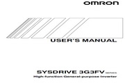 欧姆龙(OMRON) 3G3FV-A2370变频器 说明书
