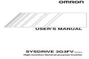 欧姆龙(OMRON) 3G3FV-A2185变频器 说明书
