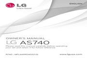 LG AS740移动电话 使用说明书