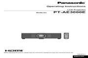 松下 PT-AE3000E投影机 英文使用说明书