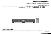 松下 PT-AE2000E投影机 英文使用说明书
