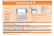 东芝 A5504T手机 使用说明书