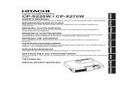 日立 CP-X275W投影机 英文说明书