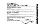日立 CP-S225W投影机 英文说明书