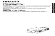 日立 CP-SX560W投影机 英文说明书