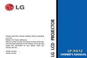 LG LP-XG12影机 英文说明书