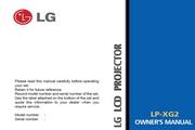 LG LP-XG2影机 英文说明书