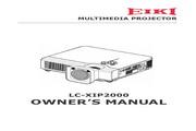 EIKI爱其 LC-XIP2000 英文说明书