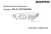 三洋 PLC-XF46N投影机 英文说明书