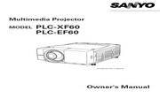 三洋 PLC-XF60投影机 英文说明书