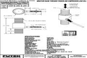 Futek LCM375应变式力传感器(轴向拉压型) 产品说明书