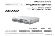 松下 AJ-HPD2500高清录像机 使用说明书